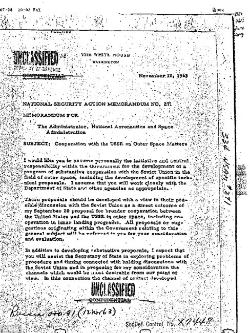JFK UFO files Request