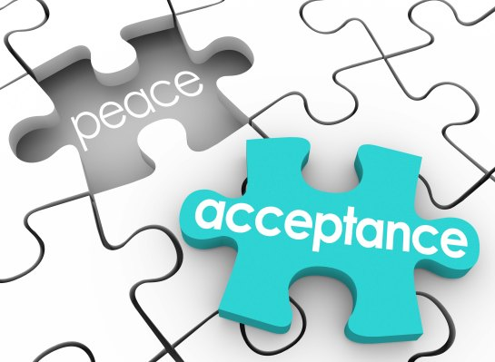 Acceptance Puzzle Piece Complete Inner Peace Admit Fault Shortco