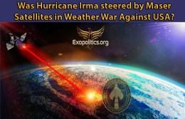 Was Hurricane Irma Steered by Maser Satellites in Weather War againstUSA?