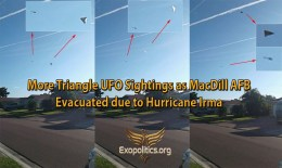 More Triangle UFO Sightings as MacDill AFB is Evacuated due to HurricaneIrma