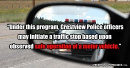 Police Announce Program to Illegally Stop People for 'SAFE Driving' & Facebook OwnsThem