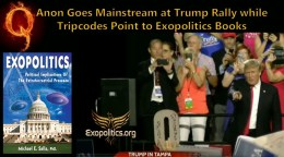 QAnon Goes Mainstream at Trump Rally while Tripcodes Point to ExopoliticsBooks