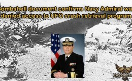 Bombshell document confirms Navy Admiral was denied access to UFO crash retrieval program