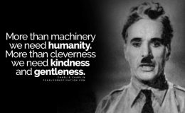 A Message For All Of Humanity – CharlieChaplin